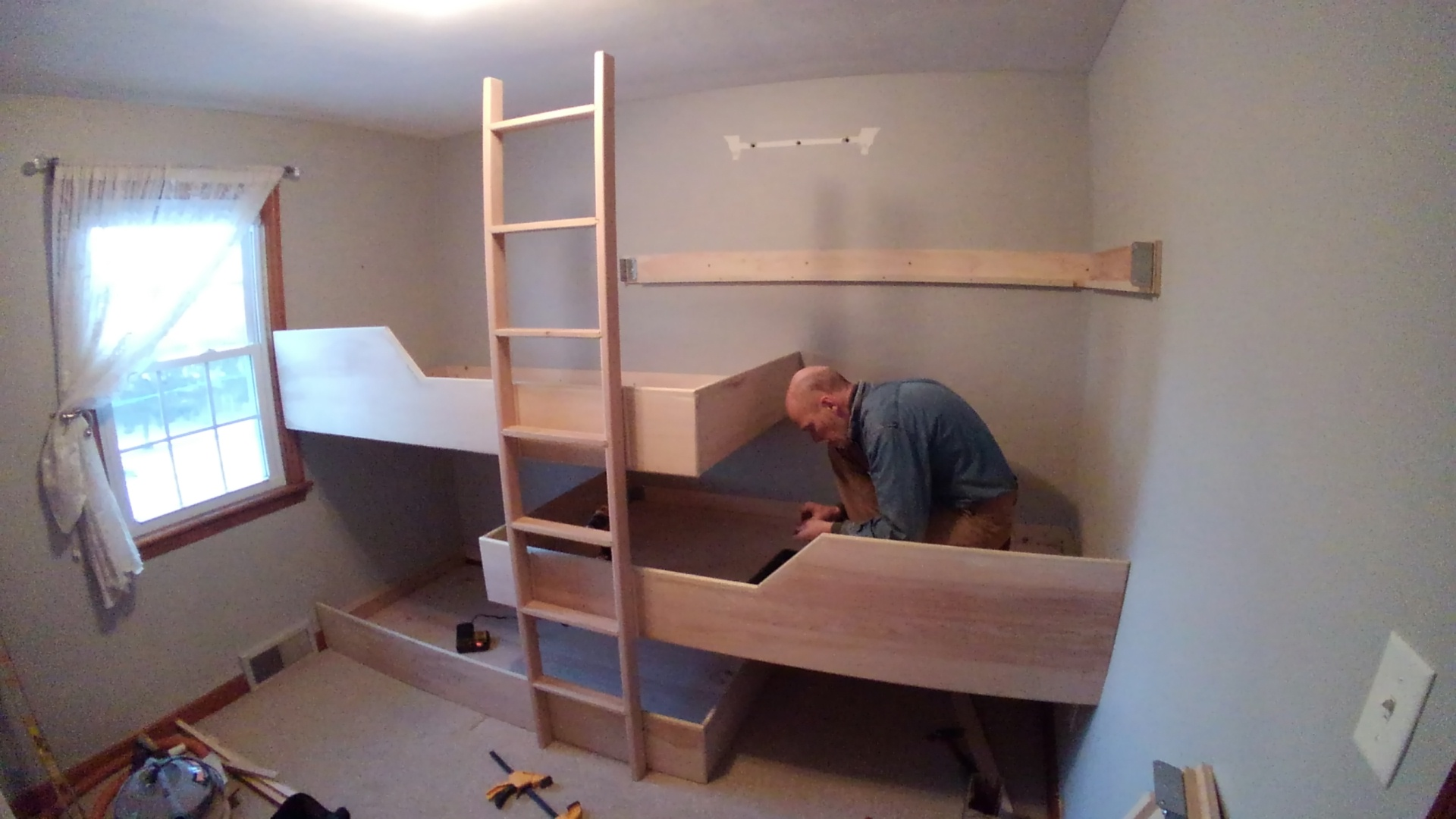 Custom Quad Bunk Beds Dircks Woodworking Service Llc
